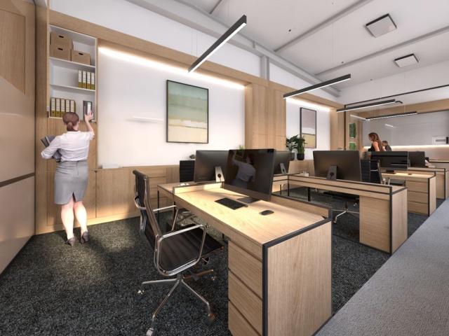 LBM, Vráble, Interiér kancelárii
